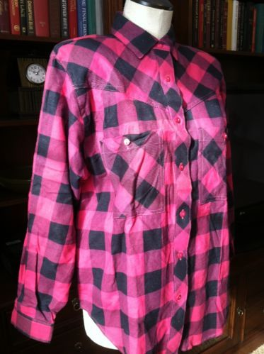 Red And Black Flannel Shirt Women