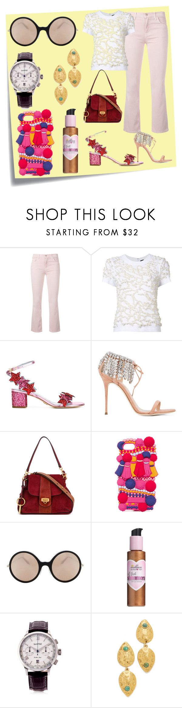 """Ultimate choice"" by denisee-denisee ❤ liked on Polyvore featuring Post-It, J Brand, Vera Wang, Chiara Ferragni, Giuseppe Zanotti, Kate Spade, Victoria Beckham, Million Dollar Tan, Eberhard & Co. and Lizzie Fortunato"