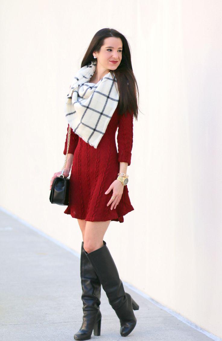 Best 25  Burgundy sweater dress ideas on Pinterest | Sweater ...