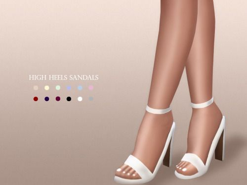 Sims 4 Updates: MariaMaria - Shoes, Shoes for females : High Heels Sandals, Custom Content Download!