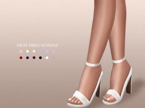 High Heels Sandals at MariaMaria • Sims 4 Updates
