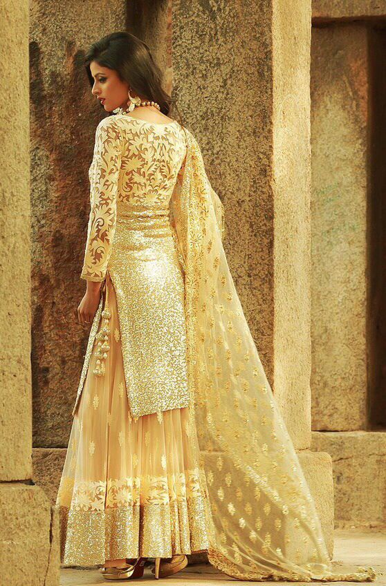 I have a thing for golden Indian wear