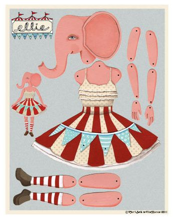 Amazing articulated paper dolls from Cart Before The Horse. Love!