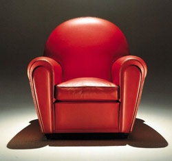Art Deco: Vanity Fair, by Renzo Frau, 1930, today Poltrona Frau. @designerwallace