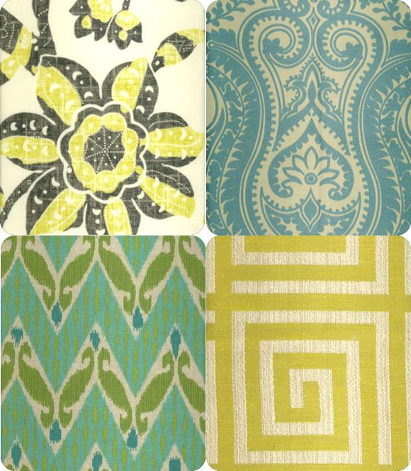 fabrics: Blue Wall, Mixed Patterns, Blue Green, Fabrics Patterns, Colors Palettes, Mixed Prints, Animal Prints, Little Green Notebooks, Patterns Mixed
