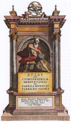 Storia della cartografia frontespizio atlante di Mercatore  - Wikipedia