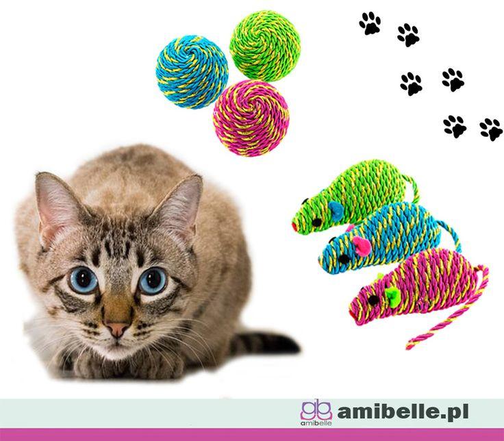 Aby nawet w domu mógł polować i dobrze się bawić. Zadbaj o odpowiednie zabawki dla swojego kota. Będzie szczęśliwy bawiąc się kompletem trzech piłeczek i myszek.