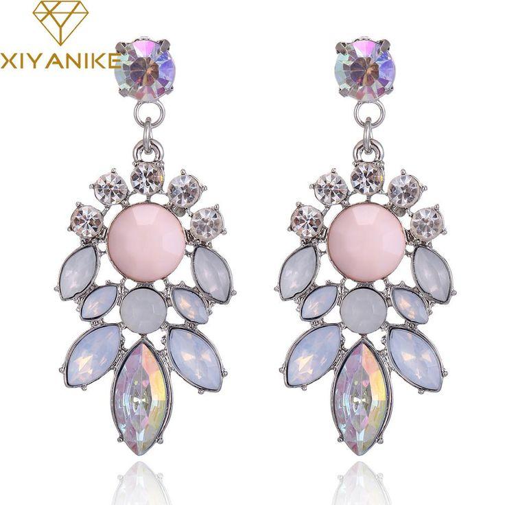 Crystal Water Drop Chandelier Style Earrings                      – Lavenderella