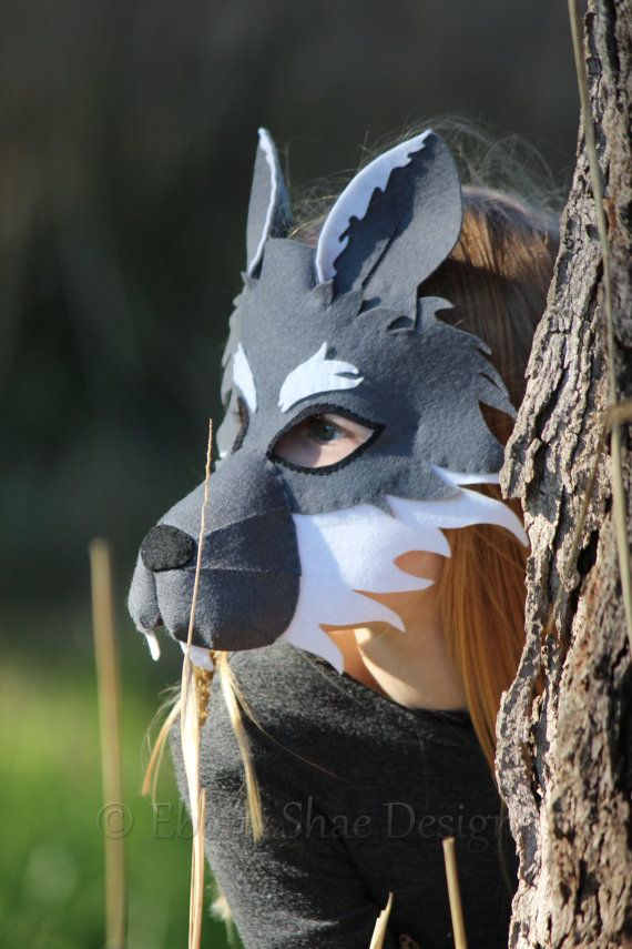 Felt Wolf Mask PATTERN. Instant Download sewing от EbonyShae