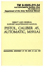 Pistol CAL. 45 Automatic M1911A1 Manual Army Navy Sales