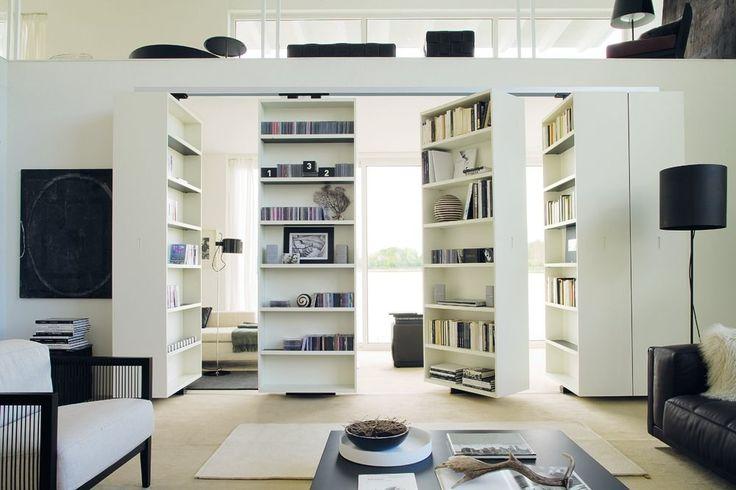 VISTA Bookcase by ALBED by Delmonte design Massimo Luca