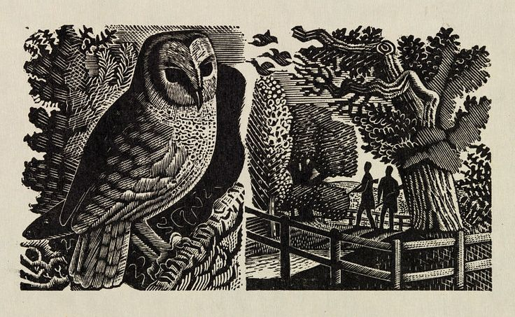 Wood engraving by Eric Ravilious for The Natural History of Selborne by Gilbert White, 1937.