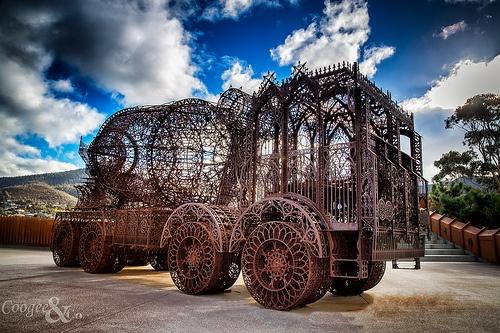 Mona, Hobart, Tasmania. If a cement truck could be beautiful... #MONA #Tasmania #Australia