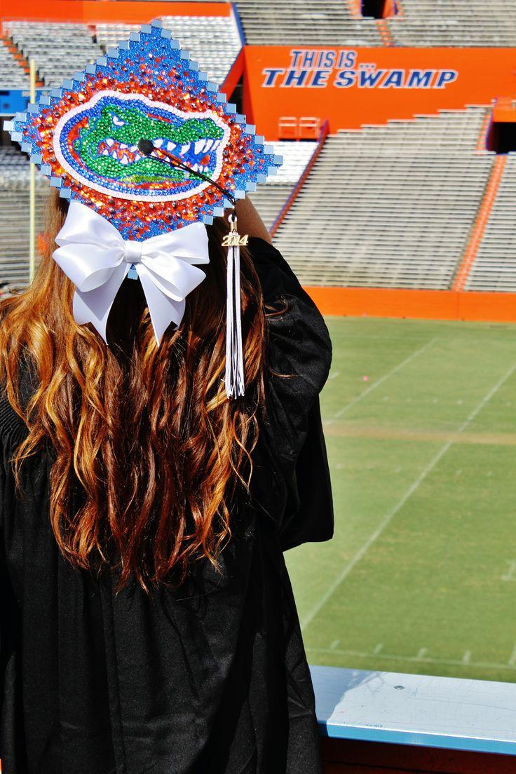 DIY Gator Graduation Cap #graduation #Gators