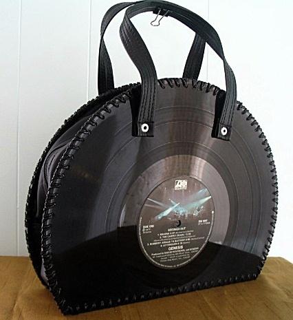 """Funky Vinyl Art (purse """"Genesis"""")"""