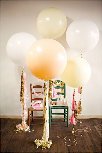 Geronimo Balloons | Say Yes to Hoboken >>> something like this would be pretty in an industrial space!