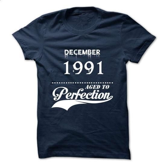 December 1991 aged to perfection - #full zip hoodie #funny graphic tees. SIMILAR ITEMS => https://www.sunfrog.com/Valentines/December-1991-aged-to-perfection.html?60505