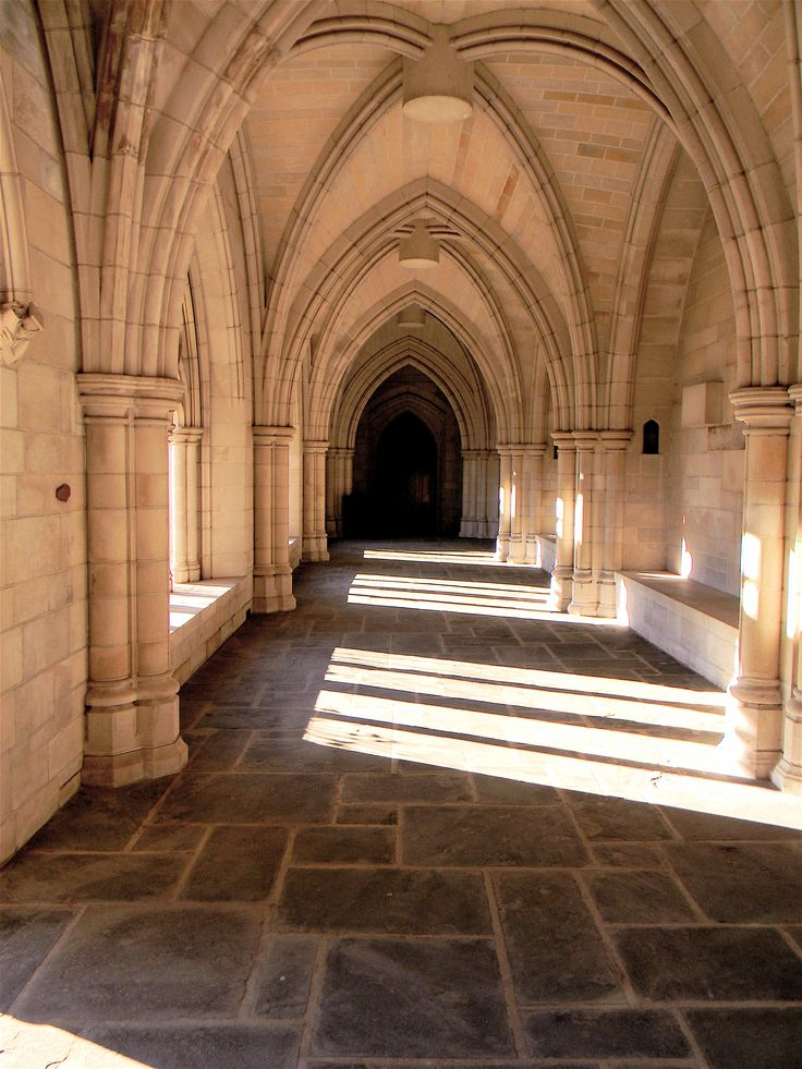 Entrance to Trinity College chapel in Hartford, CT.  There are images that kids love to search for hidden in the stone floor.