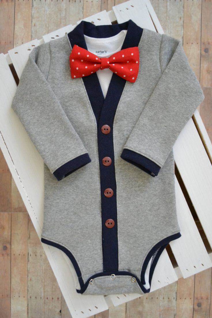 Preppy Baby Cardigan and Bow Tie Set: Gray and Navy Blue with Interchangeable Tie Shirt and Bow Tie by TheHumbleLemon on Etsy https://www.etsy.com/listing/176017081/preppy-baby-cardigan-and-bow-tie-set