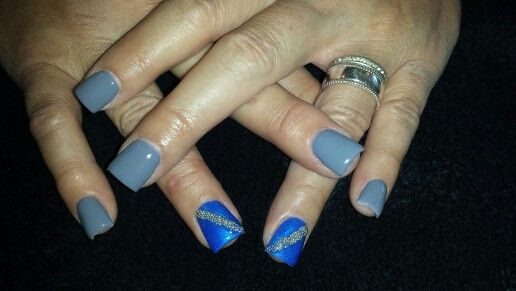 Acrylic nails with gel