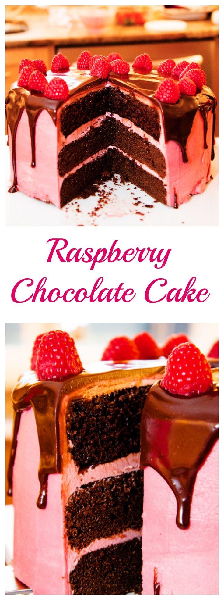 Raspberry Chocolate Cake | Grandbaby Cakes