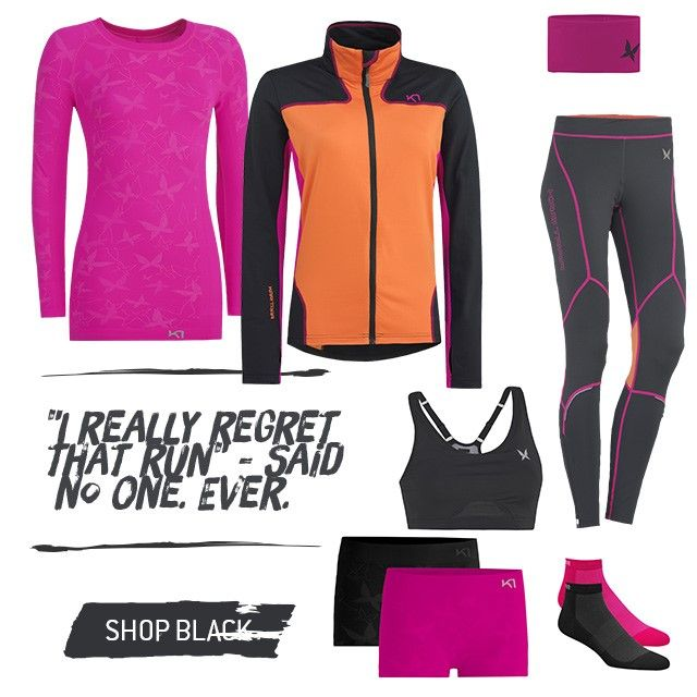 """I really regret that run"" - Said no one. Ever. 1 of 5 looks from our ""Vibrant Outdoor Training-series"" Spring 2014  http://www.karitraa.com/all-products/featured/look-1.html"