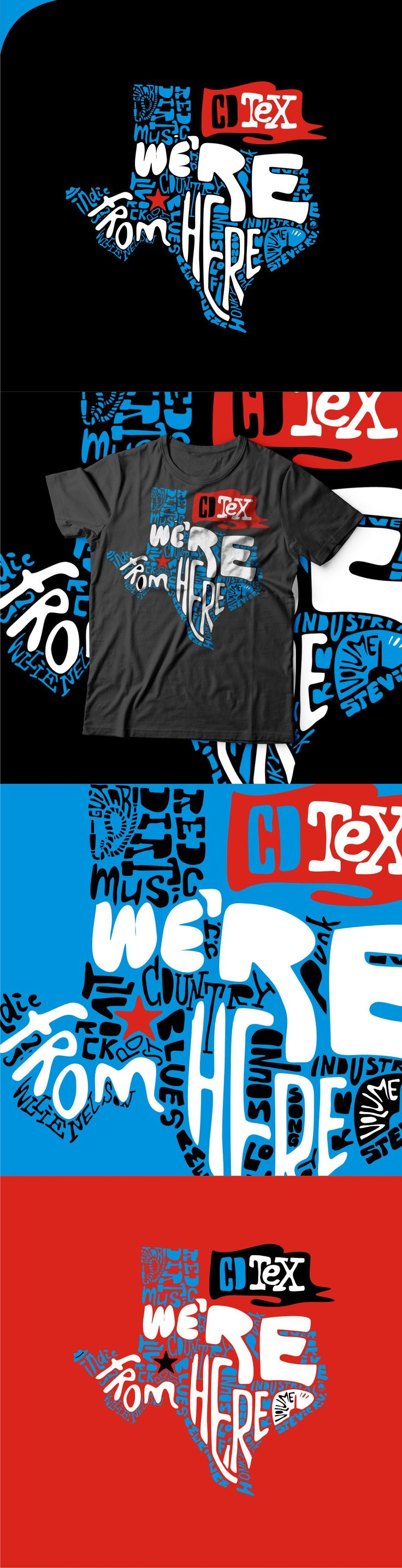 T shirt design inspiration typography - Texas T Shirt Illustration By Romantka Typography Forms The Shape Of This Graphic Tee