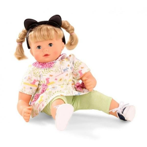 Gotz muffin dolls have a soft cuddly body and vinyl limbs so that she's easily posable.#toys2learn#gotz#dolls#42cm#blonde#hair#australia#beautiful#long#