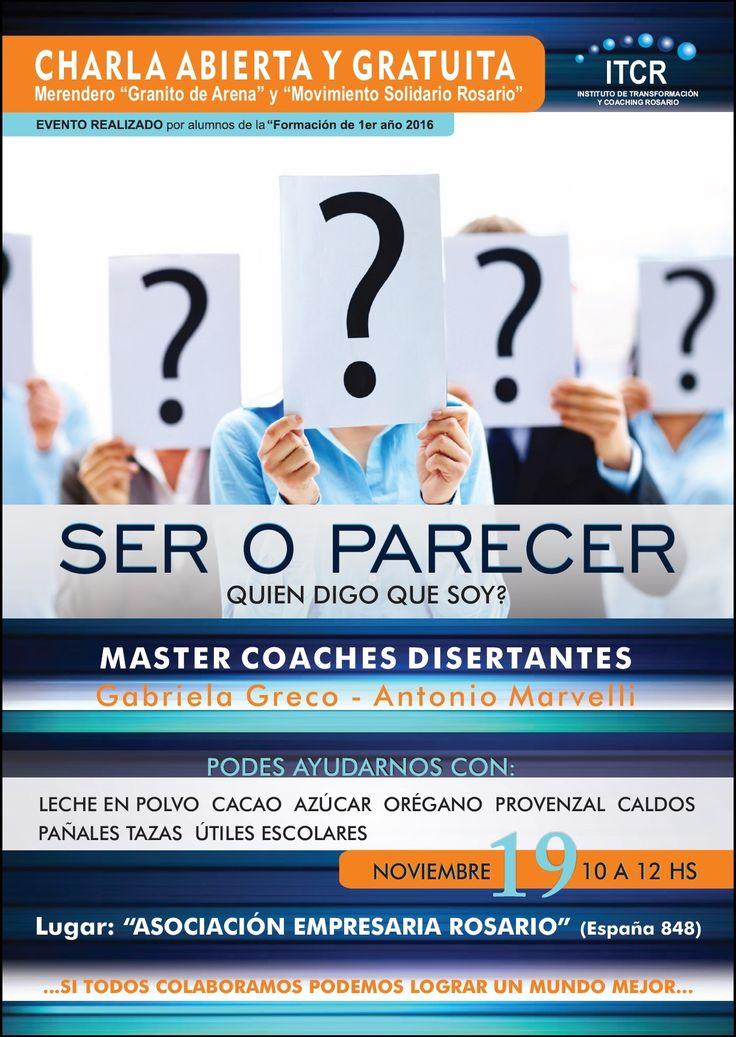 charla abierta y  gratuita, herramientas de coaching