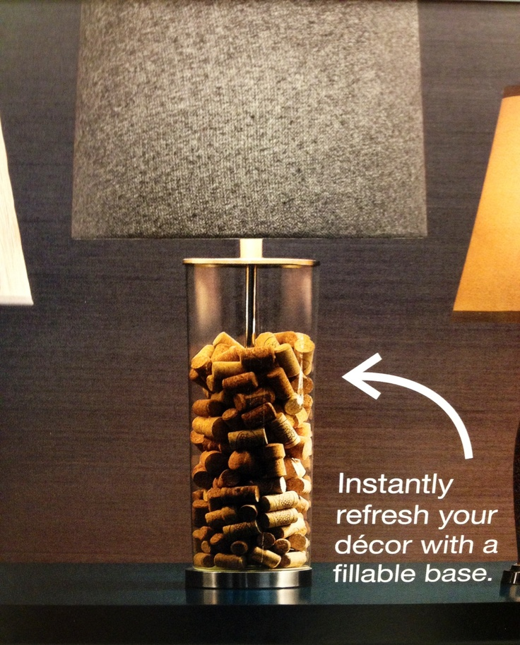 fillable lamp base with corks fillable lamps idea lamp bases. Black Bedroom Furniture Sets. Home Design Ideas
