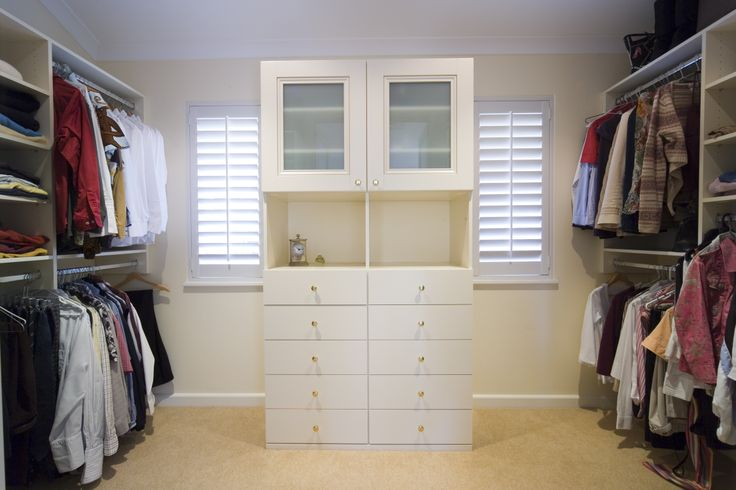 Custom designed 'his and hers wardrobe' storage to suit any room.