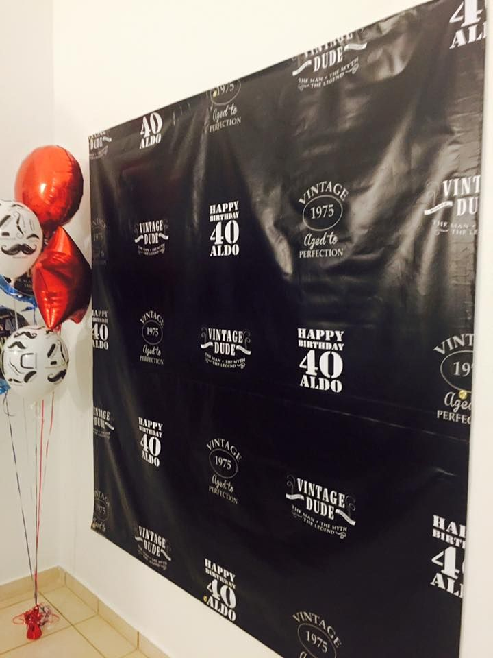 40 Birthday Jack Daniels Custom Photo Backdrop | 40th ...