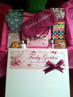 "Really wish they had this around when I was a teenager: ""Welcome to womanhood"" giftbox via www.funkygoddess.ie"