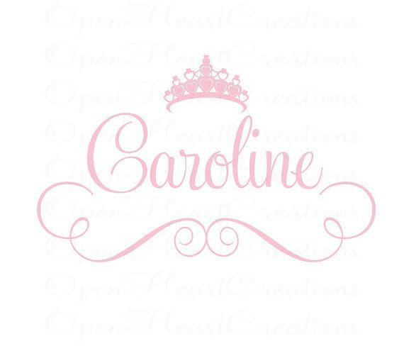 Princess+Girls+Name+Wall+Decal++Baby+Girl+by+openheartcreations,+$45.00