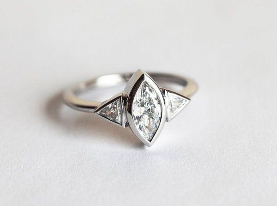 Platinum Diamond Engagement ring 0.7 Carat Diamond by capucinne