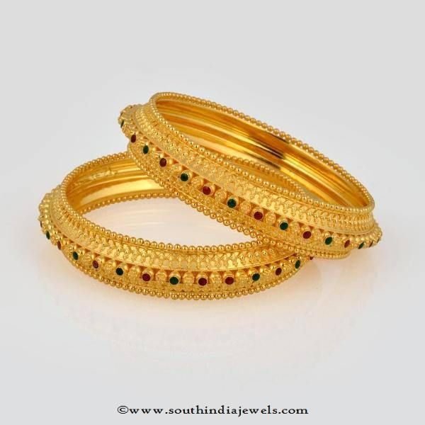 32 Grams Gold Bangles from New Arun Jewellers