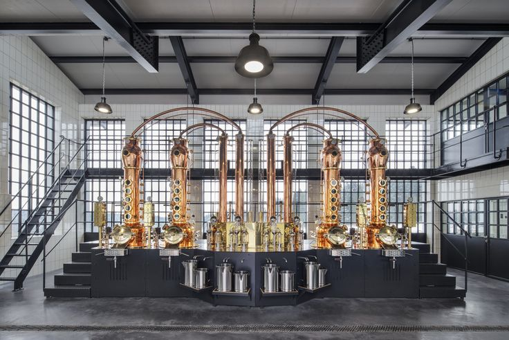 The distillery building houses the core of the Monkey 47 Black Forest Distillery by PHILIPP MAINZER: a custom designed distillery boiler built by the German copper smith Arnold Holstein (2015). Photo: Ingmar Kurth.