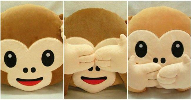 [TOPITRUC] Des peluches emoji singe le relou qui se cache les yeux les oreillles et la bouche