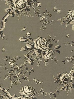 Ashfield Floral - Gunmetal by Ralph Lauren Wallpaper