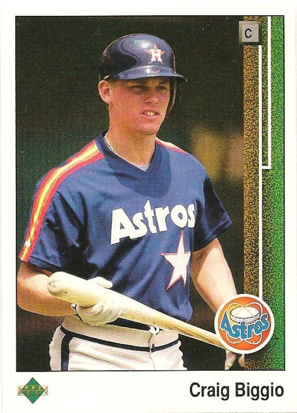 Vintage 1989 Upper Deck Baseball Card #273 Craig Biggio RC Rookie Card Astros #HoustonAstros