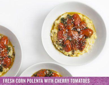 corn polenta with avocado and tomato salad recipe on food52 fresh corn ...