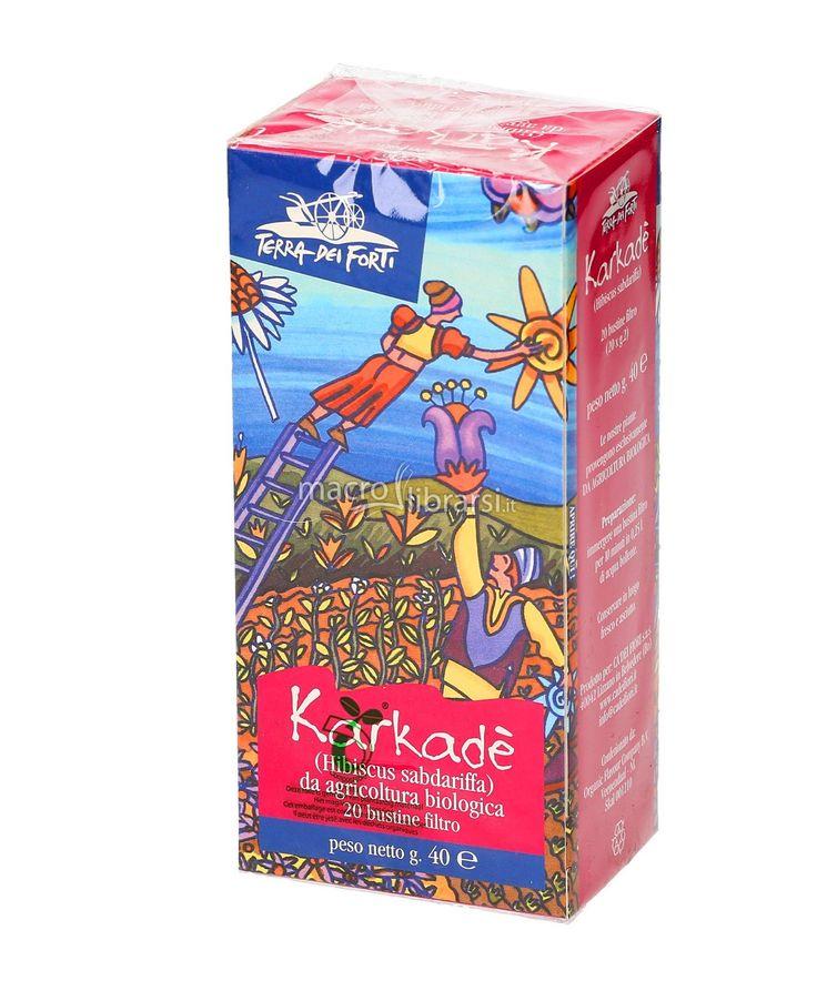 Karkadè a base di fiori e boccioli di ibiscus subdariffa raccolti a mano.