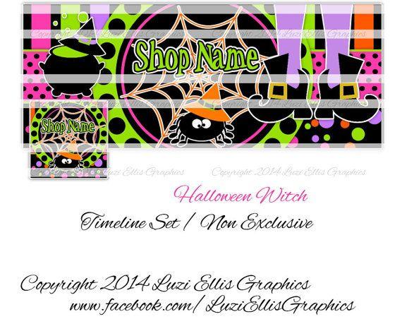 Halloween Witch Spider Facebook Timeline by LuziEllisGraphics
