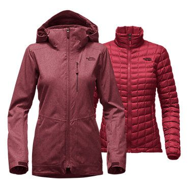 The North Face Women's THERMOBALL Snow Triclimate Parka Coat