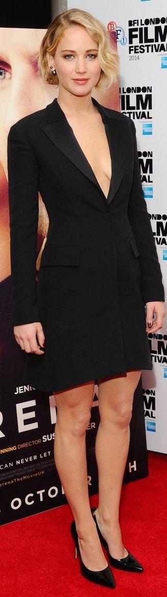 Jennifer Lawrence In Christian Dior – 'Serena' London Film Festival Screening