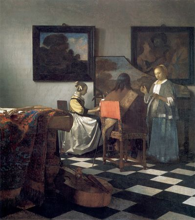 The Concert by Johannes Vermeer