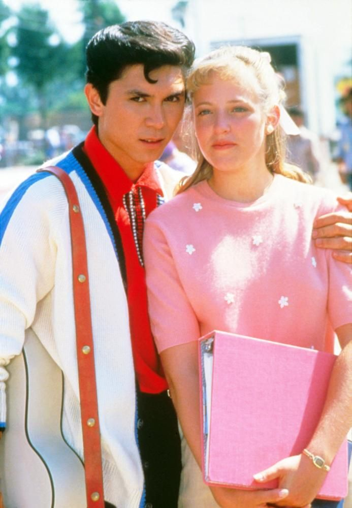 LA BAMBA, from left: Lou Diamond Phillips as Ritchie Valens, Danielle von Zerneck, 1987, © Columbia