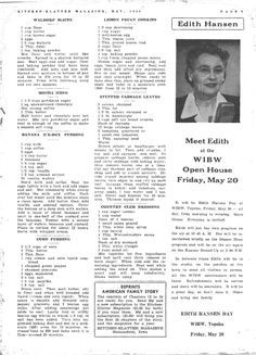 Kitchen Klatter Magazine, May 1949 - Waldorf Slices, Mocha Icing, Banana Ice Box Pudding, Corn Pudding, Lemon Pecan Cookies, Stuffed Cabbage Leaves, Country Club Dressing