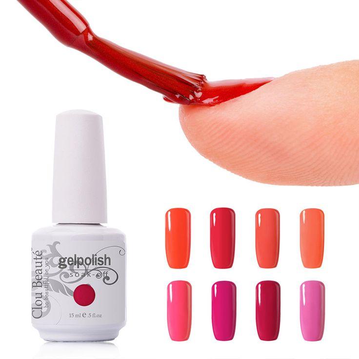 Hot Sale 15ml Clou Beaute (Choose Any 1 Color) Nail Gel Soak Off UV Gel Lacquer UV Led Lamp Nail Gel Polish