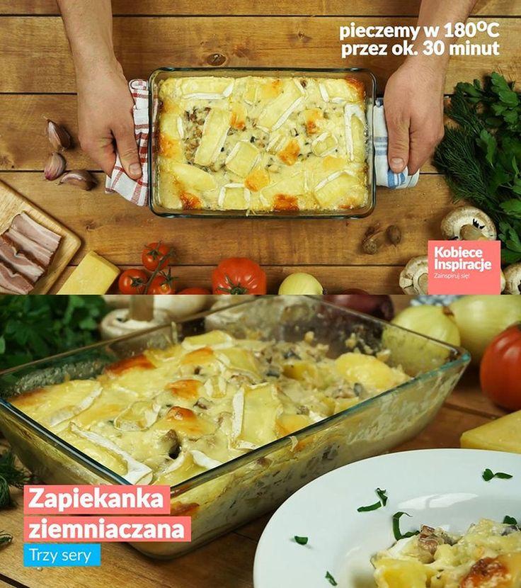 Zapiekanka ziemniaczana - trzy sery